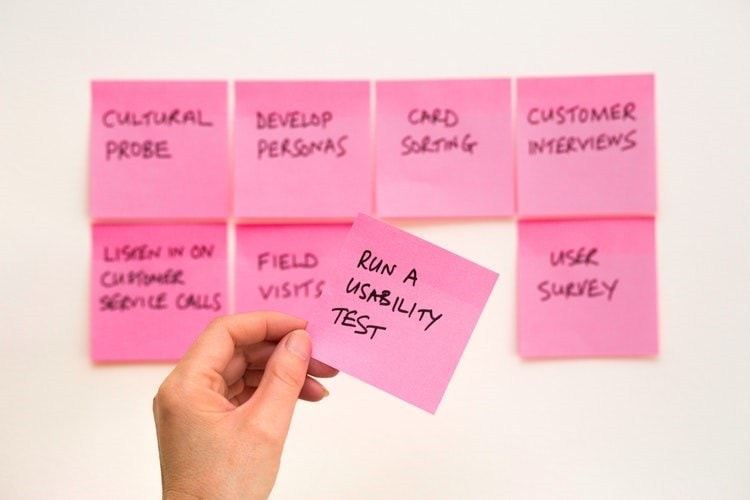 Post-it used to plan product creation